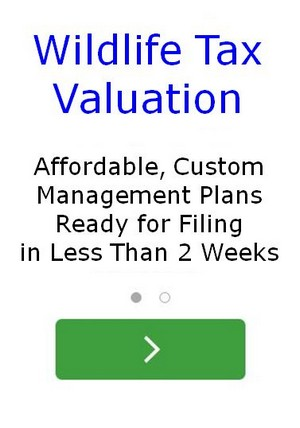 Wildlife Management Use Tax Valuation Management Plans
